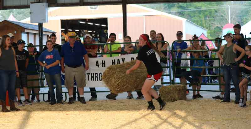 Hay Bale Throwing Contest